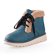 Women's Boots Spring / Fall / Winter Others PU Dress / Casual Flat Heel  Blue / Yellow / Pink / Khaki Others