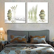 Stretched Canvas Print Art Landscape Stone in The River Set of 2