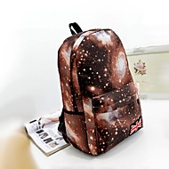 Women's Galaxy Print Cosmic Space Girl Canvas Backpack