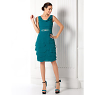 Cocktail Party / Prom / Holiday Dress - Jade Plus Sizes / Petite Sheath/Column Cowl Knee-length Georgette