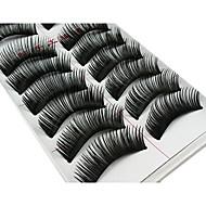 10 paires fabuleux épaisse fibres chimiques noir faux cils