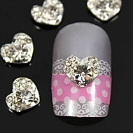 10pcs    3D Rhinestone Heart Finger Tips Jewelry Accessories Nail Art Decoration