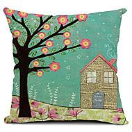våren landskap bomull / linne dekorativa örngott