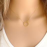 shixin® forma de círculo colgante de collar de aleación clásico (1 unidad)