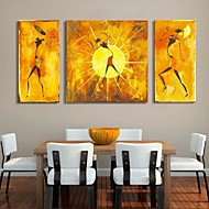 Stretched Canvas Art Abstract People Decorative Picture Set of 3