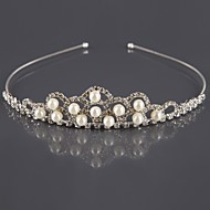 kvinders perle rhinestone tiara
