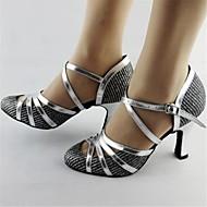 Scarpe da ballo - Non personalizzabile - Donna - Moderno - Tacco spesso - Pelle - Argento