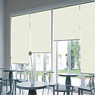 Рулонные шторы бежевого цвета в современном стиле