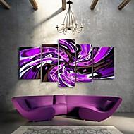 Canvastaulu taidetta kierto violetti linja koristeluun sarja 5