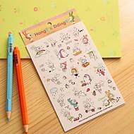 konijntje dagboek sticker (6 stuks)