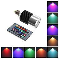 Spot Commandée à Distance RGB E26/E27 10 W LED Intégrée 800 LM K AC 85-265 V