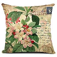 land blommor bomull / linne dekorativa örngott