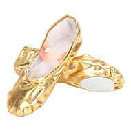 Non Customizable Women's/Kids' Dance Shoes Belly/Ballet Leatherette Flat Heel Silver/Gold