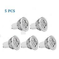 Spot/Projecteurs PAR Gradable Blanc Chaud 5 pièces PAR GU10 5 W 1 350-400 LM 3000-3500 K AC 100-240 V