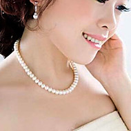 Shixin® Sweety White Pearl Elastic Strand Necklace(1 Pc)