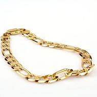 Herrn Ketten- & Glieder-Armbänder Modisch Gold Kupfer vergoldet Aleación Golden Schmuck Für Normal Weihnachts Geschenke 1 Stück
