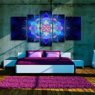 Stretched Canvas Art Beautiful Dream Flower Decorative Painting Set of 5