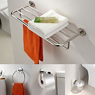 Stainless Steel 4 Piece  Bathroom Accessories Set