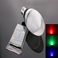 Spot Commandée à Distance RGB C35 E26/E27 10 W 1 LED Haute Puissance 950 LM AC 85-265 V