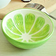 Lovely Fruit Design Ceramic Bowls Green Lemon,13x13x4.2cm
