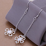 Simple Flower Shape  Silver Plated Foreign Trade Earring(Silver)(1Pair)