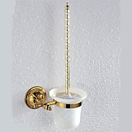 PHASAT®,Toilet Brush Holder Ti-PVD Wall Mounted Brass Antique