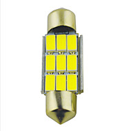 Carking ™ feston 36mm-5630-9SMD Car LED lampa Rome White Light (12V/2PCS)
