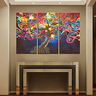 Stretched Canvas Art The Tree of Life Set of 3