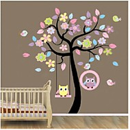ZOOYOO®removable colorful tree and owls wall sticker home decor Decal Art Mural wall sticker Home Decoration