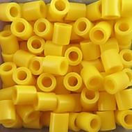 kb 500db / csomag 5mm sárga Perler gyöngyök biztosíték gyöngyök hama gyöngyök DIY kirakós EVA anyagból Safty gyerekeknek