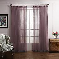 Deux Panneaux Le traitement de fenêtre Moderne Chambre à coucher Polyester Matériel Rideaux opaques Décoration d'intérieur For Fenêtre