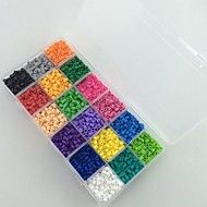 kb 18 * 300db 18 vegyes színű 5mm Perler gyöngyök biztosíték gyöngyök hama gyöngyök EVA anyagból safty gyerekeknek (beállítani)