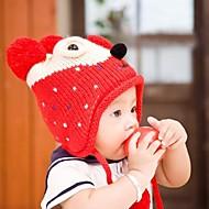 dětská móda žolík krásný teplý plyšový medvěd tečka chrániče uší klobouk