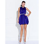 Cocktail Party/Prom Dress - Regency Plus Sizes A-line High Neck Short/Mini Satin