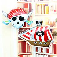 頭蓋骨の海賊コルセアアルミ膜の誕生日パーティーのすべての聖人の日ハロウィンバルーンセット