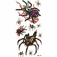 araña impermeable tatuaje temporal molde muestra pegatina tatuajes para el arte corporal (18.5cm * 8.5cm)