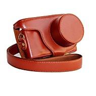 pelle dengpin® fotocamera protettivo staccabile della copertura del sacchetto caso per Samsung NX mini nxf1 con lente 9-27mm