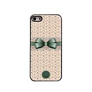 presente personalizado bonito bowknot e flor caso design de metal para iPhone 5 / 5s