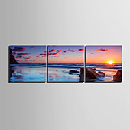 Op gespannen doek Landschap Modern / Traditioneel,Drie panelen Canvas Horizontaal Print Art wall Decor For Huisdecoratie