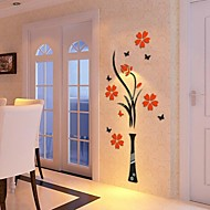3D Wall Stickers Wall Decals, Acrylic Crystal Flowers DIY Wall Stickers