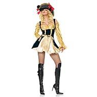 acque inesplorate pirata medievale terylene d'oro e il nero delle donne costumefor carnevale