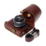 dengpin® lederen afneembare beschermende camera case tas hoes schapen patroon voor nikon j3 met 10-30 mm lens