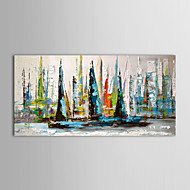 Hand-Painted Landscape Horizontal Panoramic,Modern Traditional One Panel Canvas Oil Painting For Home Decoration