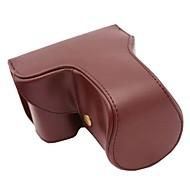 pajiatu® long style de lentille pu caméra en cuir étui de protection pour sony alpha A6000 18-55 / 16-50mm ou 2,8 / 16 lentilles