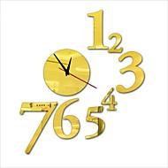 """30 """"ч современный стиль новой акриловой простое число зеркало настенные часы"""