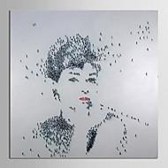 Pintada a mano Personas Un Panel Lienzos Pintura al óleo pintada a colgar For Decoración hogareña