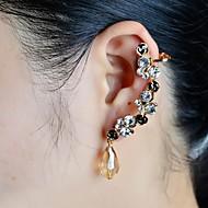 Fashion Stone Set Beads Drop Ear Cuffs