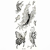 mariposa tatuaje temporal a prueba de agua moho muestra pegatina tatuajes para el arte corporal (18.5cm * 8.5cm)