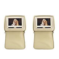 """7 """"hoofdsteun slot-in auto dvd-speler met FM-zender / IR / USB / SD en rits deksel (1 paar)"""