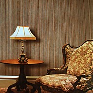 Wall Paper Wallcovering, Modern Style 3D Straw Grain PVC Wall Paper
